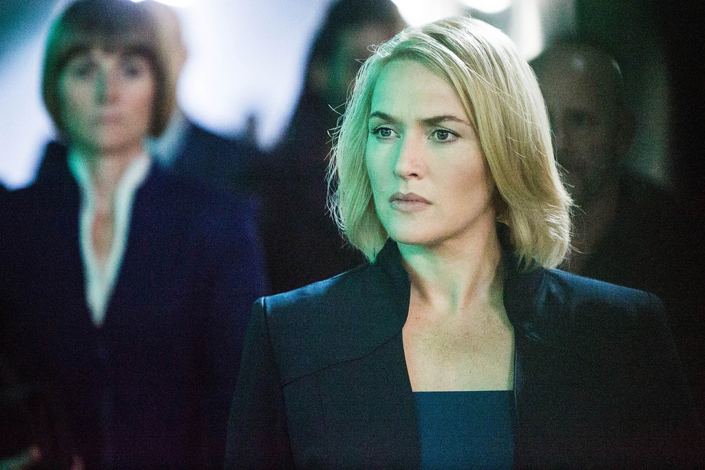 """. This image released by Summit Entertainment shows Kate Winslet in a scene from \""""Divergent.\"""" (AP Photo/Summit Entertainment, Jaap Buitendijk)"""
