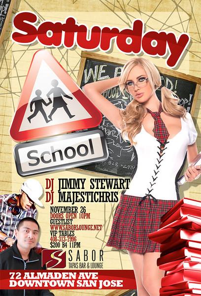 Saturday School @ Sabor Tapas Bar & Lounge 11.26.11