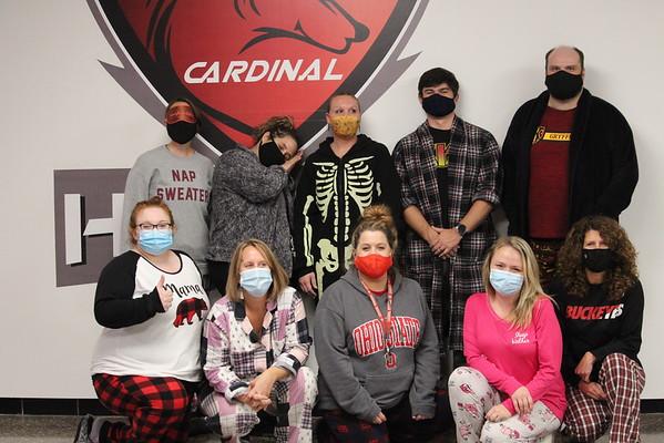 '20 Cardinal Spirit Day 1: Pajama Day