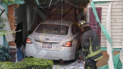 Syosset F.D. MVA Car Into A House 101 Carnegie  Ct. 6/29/15