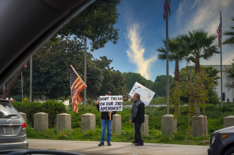January 20 - Massive 2nd Amendment rally at VA in Westwood, Los Angeles, California.jpg