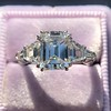 3.43ctw Emerald Cut Diamond 5-Stone Ring by Leon Mege, GIA F SI1 4