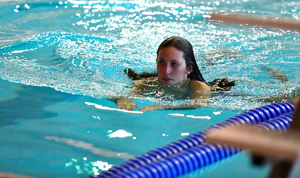 10/12/2019 Mike Orazzi | StaffrBristol Eastern's Madison Chasse during the city swim meet on Saturday night. r