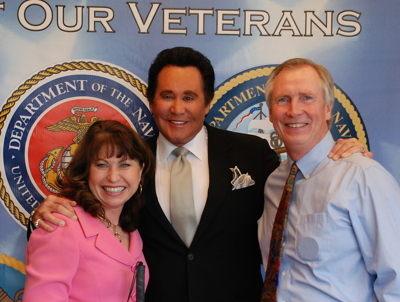 Paula and Bill Pedene with Wayne Newton