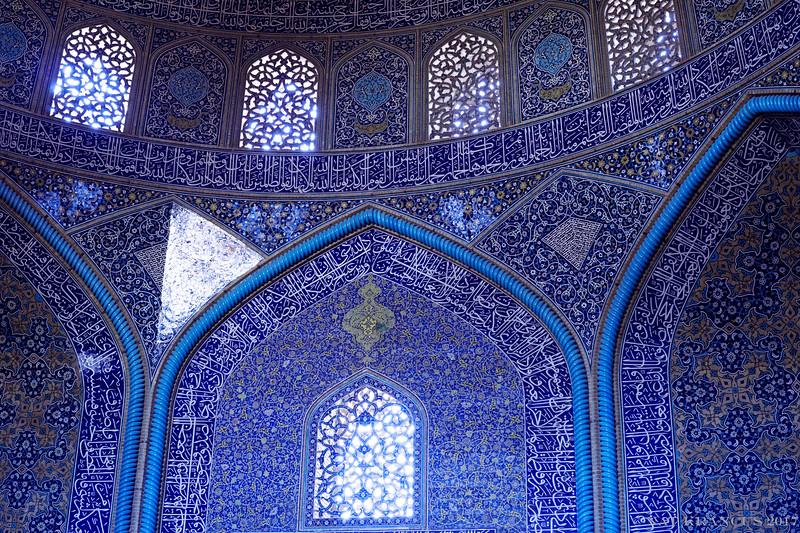 interior of Sheikh Lotfollah Mosque , Isfahan, Iran, 2016