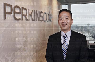 Perkins Coie law firm attorney Steve Koh and alumni Dick Albrecht
