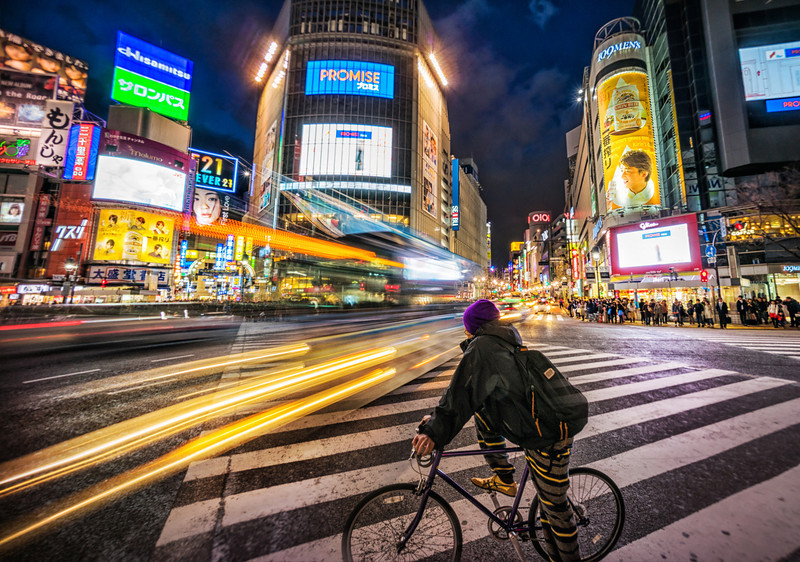 Bike Crossing at Shibuya