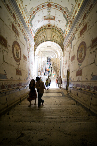 Staircase between Chiaramonti and Pius-Clementine museums, Vatican