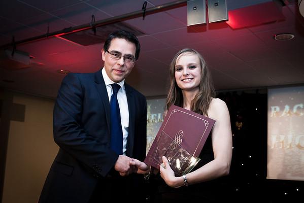 2012-12-10 Rachael Receiving Young Volunteer of the Year Award
