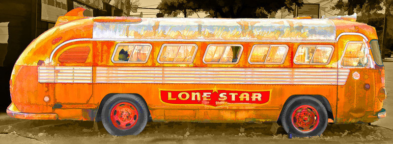 The Texas Top Hands Western Swing Bus at the Broken Spoke in Austin Texas