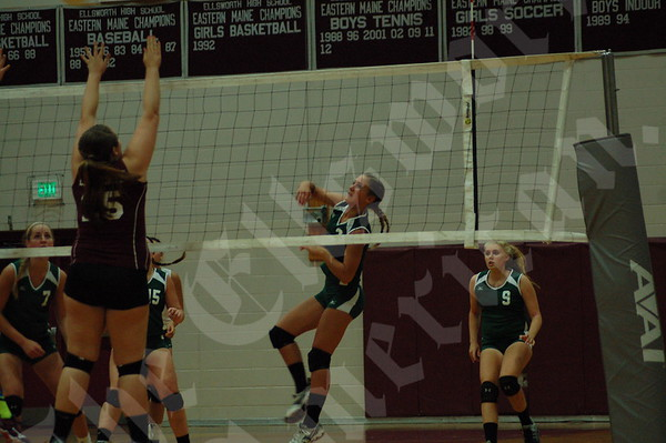 Volleyball; Ellsworth vs MDI; 9/11