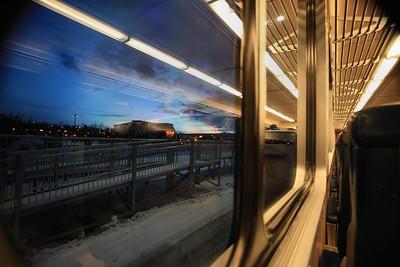Train ride to Fairbanks