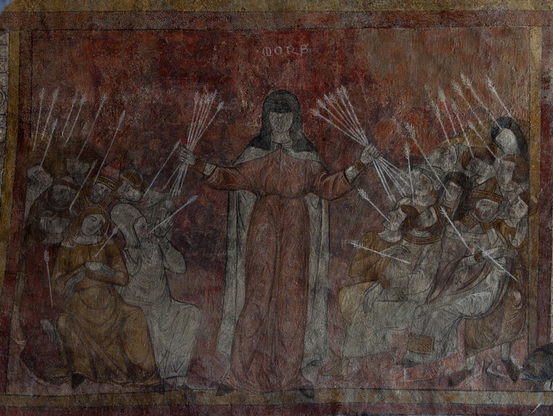 Lavaudieu Abbey of Saint Andrew Allegory of Death Fresco