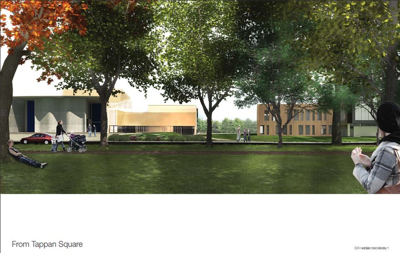 . Submitted rendering � Oberlin College Theater Department <br> This rendering shows the final look of the new Eric Baker Nord Performing Arts Annex, under construction now off the south side of Oberlin College\'s Hall Auditorium, 67 N. Main St., Oberlin.