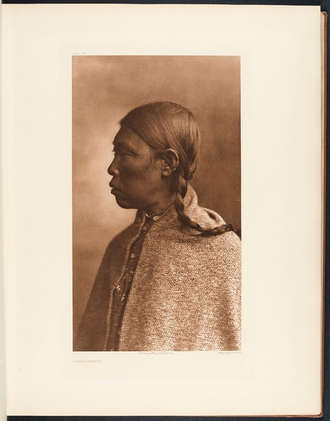 The North American Indian, vol. 9 suppl., pl. 321. Lummi woman