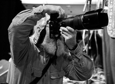 John Taber's photo of me at work at the Center for the Arts, Feb. 2, 2012