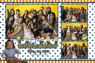 Raxton's 1st Birthday (Multi-Photo Collage)