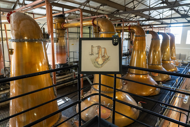 Copper still at Cardhu Distillery