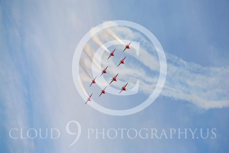 Red Arrows 00008 British RAF Red Arrows by Peter J Mancus.JPG
