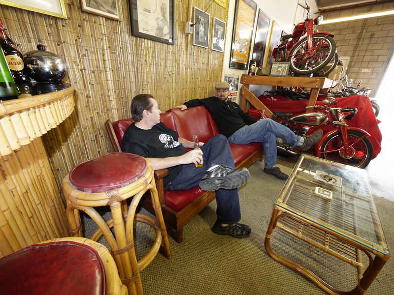The lounge at Moto Guzzino