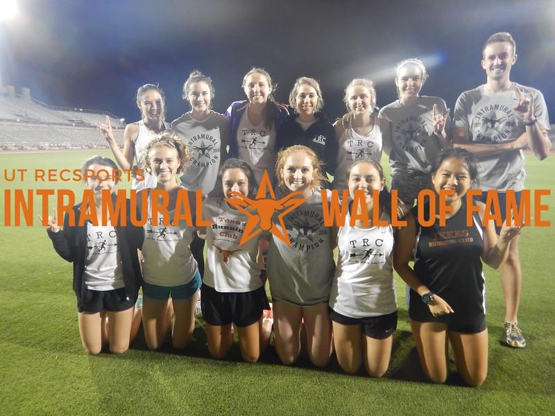 Spring 2016 Track Meet Women's Champion Texas Running Club