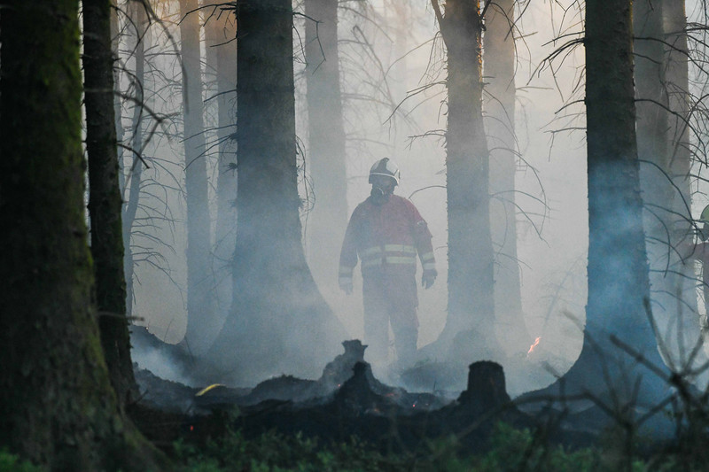 Forest fire, Maesteg, South Wales