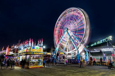 Buffalo Grove Carnival at night
