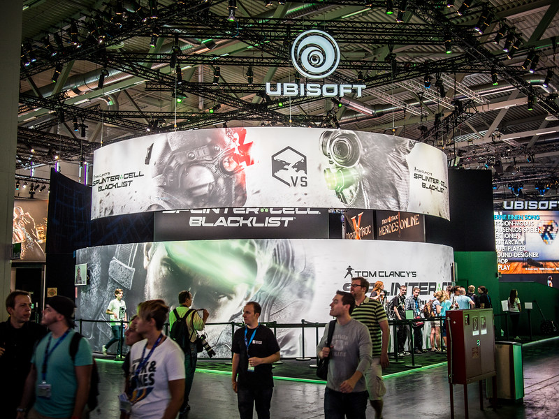 Ubisoft booth at Gamescom 2013