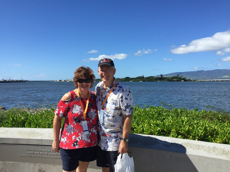 John and I at Pearl Harbor - 11/11/2018