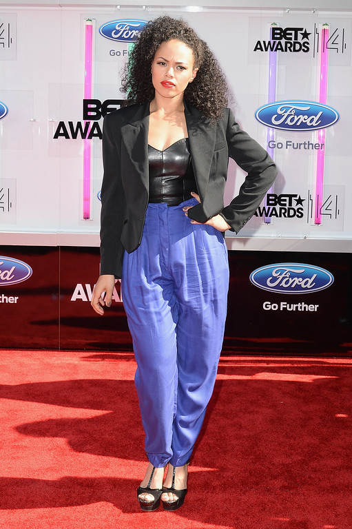 . Singer Elle Varner attends the BET AWARDS \'14 at Nokia Theatre L.A. LIVE on June 29, 2014 in Los Angeles, California.  (Photo by Earl Gibson III/Getty Images for BET)
