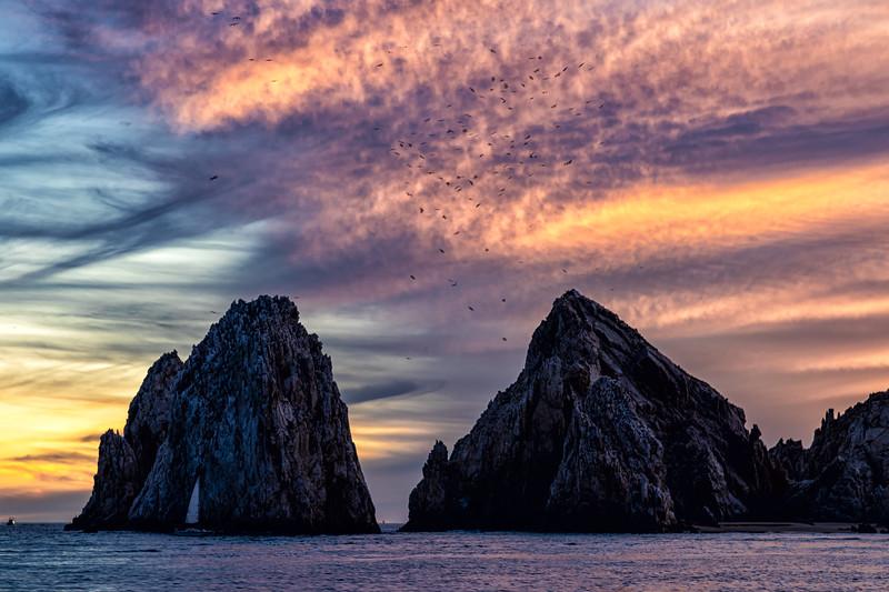 Lands end sunset Cabo