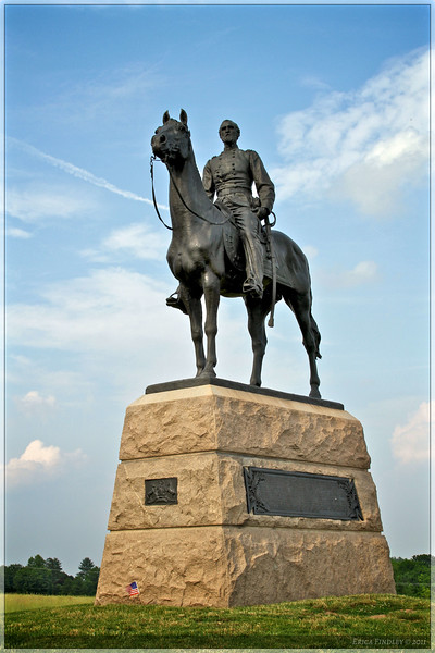 General Meade Monument.  It was amazing just how close the two Generals were to each other across the battlefield.