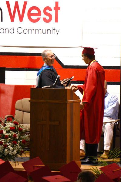 Lutheran West Graduation - Class of 2013  Perfect attendance award: Wayne Gyorgak