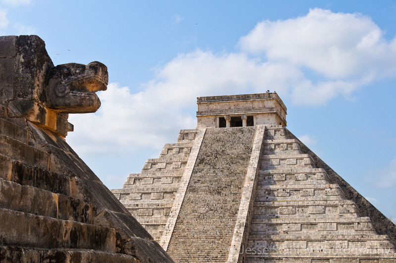 El Castillo from the Platform of the Eagles and the Jaguars, Chichen Itza