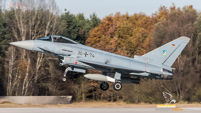 German Air Force TLG-74 / Eurofighter Typhoon / 30+74
