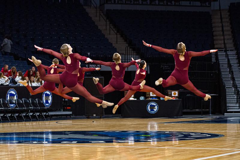 Holy Family Dance Team at 2020 MSHSL State Jazz Tournament Prelim - Collin Nawrocki/The Phoenix
