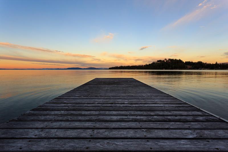 Woods Bay, Big Fork, MT - Flathead Lake pier.