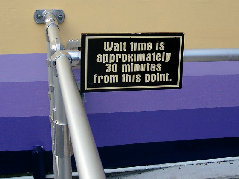 Another new sign on the Yankee Cannonball queue.