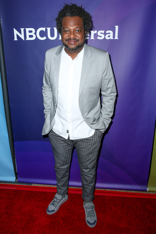 ". Bonin Bough, a cast member in the television series ""Cleveland Hustles,\"" arrives at the NBCUniversal Television Critics Association summer press tour on Wednesday, Aug. 3, 2016, in Beverly Hills, Calif. <a href=\""http://www.cnbc.com/cleveland-hustles/\"">\""Cleveland Hustles\""</a> aired this summer and fall on CNBC. The series was featured executive producer LeBron James and Northeast Ohio investers who helped guide local entrepreneurs in opening businesses in the Gordon Square Arts District. (Photo by Rich Fury/Invision/AP)"