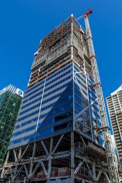 Ein neuer Wolkenkratzer an der Queens Street entsteht