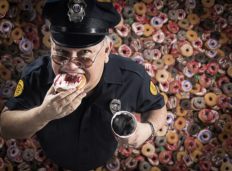 Photographer-Kiko-Ricote-Advertising-Conceptual- Creative-Space-Artists-Management-6-glutony-cop-police-donuts.jpg