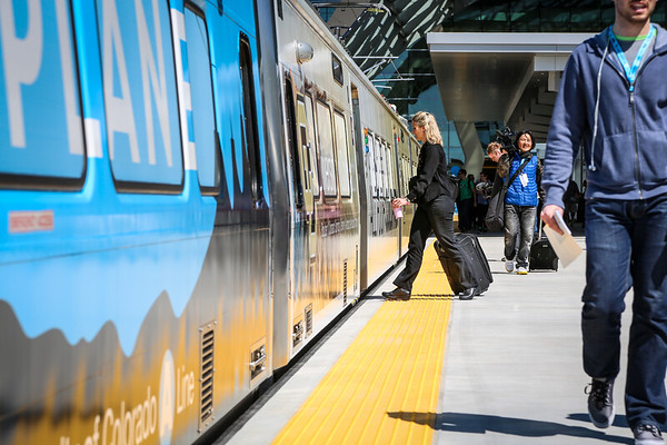 4-22-16 Train To The Plane - RTD A Line Inaugural Event