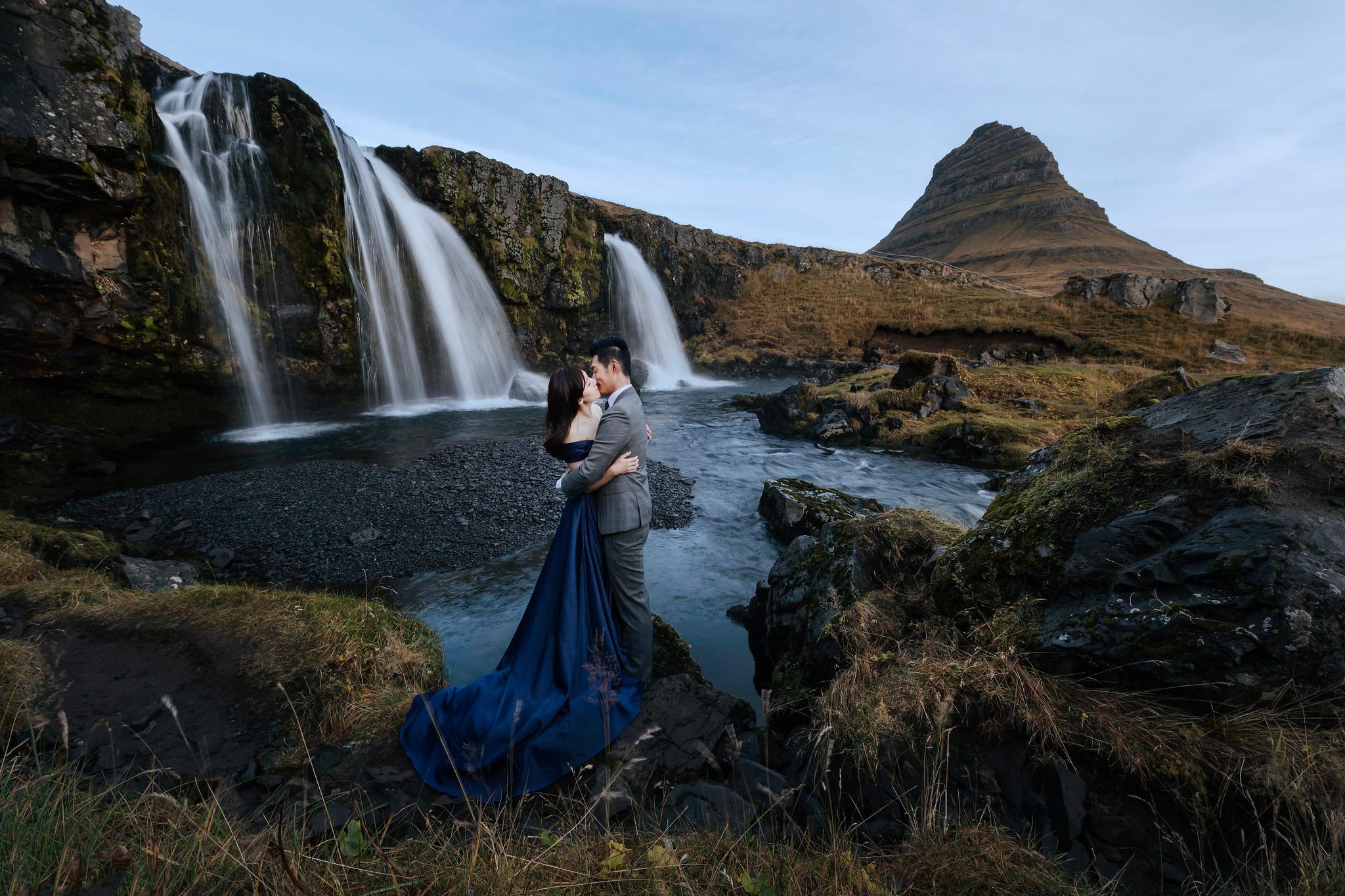 冰島攻略, 冰島婚紗, Donfer, 教堂山, 草帽山, Iceland Pre-Wedding, Kirkjufellsfoss