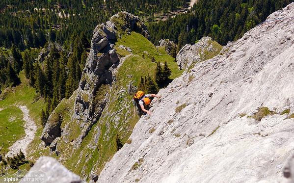Aggenstein alpine climbing