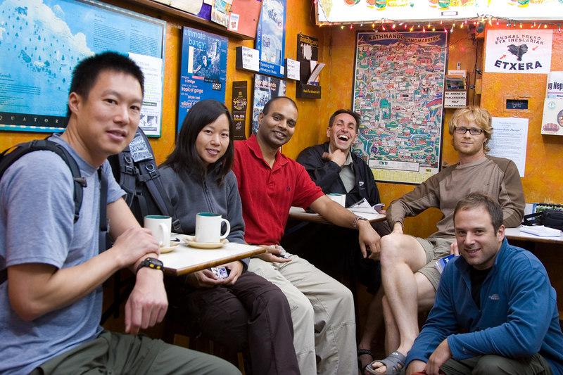 The Nepal trekkers group.