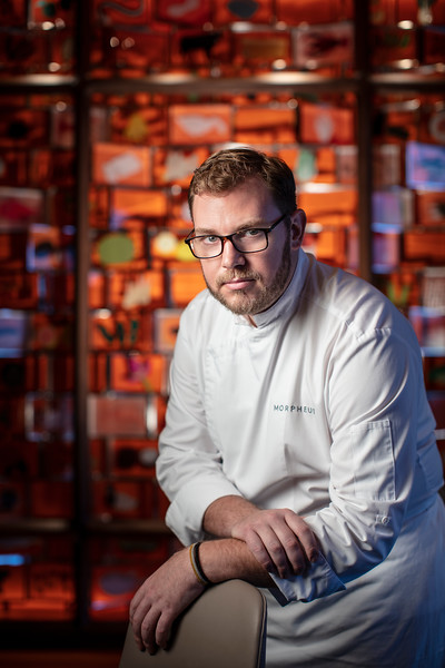 Executive Chef Alexandre Viriot at Voyages by Alain Ducasse restaurant in Morpheus Macau.