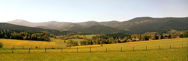 Bavarian landscape in spring