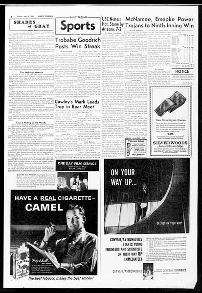 Daily Trojan, Vol. 52, No. 98, April 04, 1961