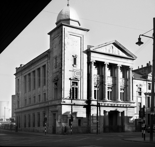 West Nile St and Sauchiehall St, northeast corner. This fine church, said to have had an equally fine interior, was St John's Wesleyan Methodist. It was demolished a year or two later, and the southwest corner of the Buchanan Galleries now occupies the site. 