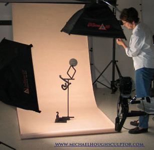 Ellen prepares to photograph Michael Hough sculpture.jpg
